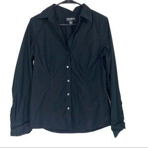 Banana Republic black button down dress shirt M